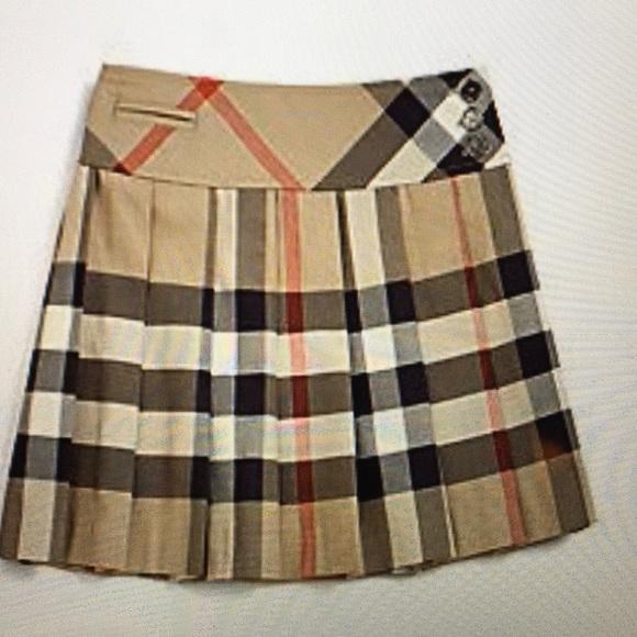 19e6146491 Burberry Bottoms   Children Nova Check Classic Pleated Skirt   Poshmark